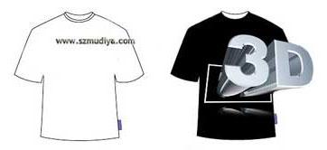 深圳订做T恤衫小贴士:什么是3D立体T恤衫?