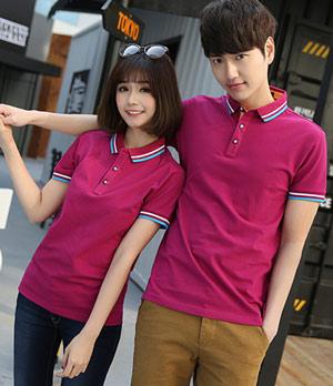 紫红色POLO衫订做厂家直销款式图片