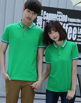 草绿色短袖POLO衫,食品