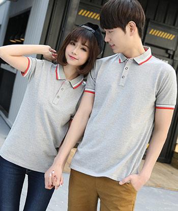 花灰色POLO衫订做款式,T恤