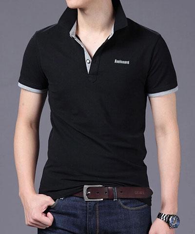 莱卡棉黑色高档POLO衫定做款式(多图赏析)