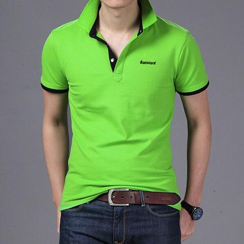 绿色POLO衫定制款式图片