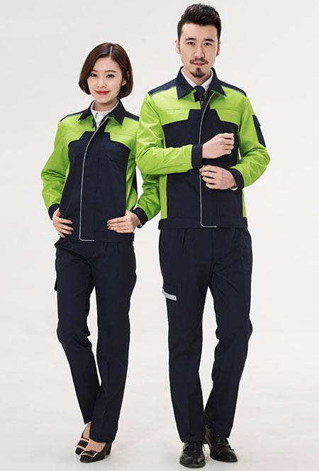 <b>果绿色时尚工作服定做款式图</b>