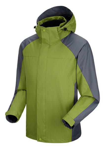 军绿色冲锋衣工作服订做款式图