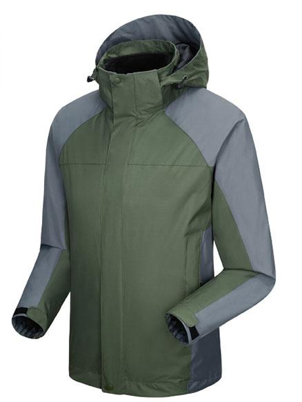 墨绿色冲锋衣定做款式图