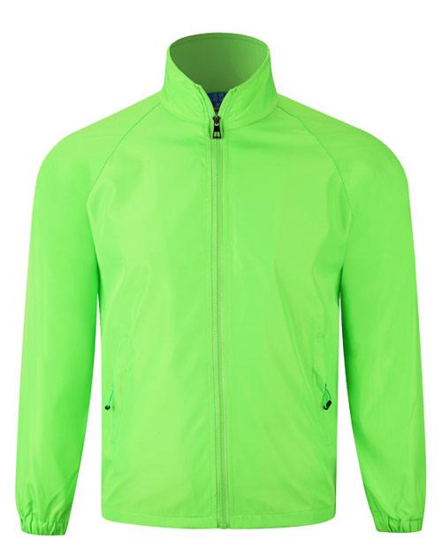纯绿色广告风衣订做款式
