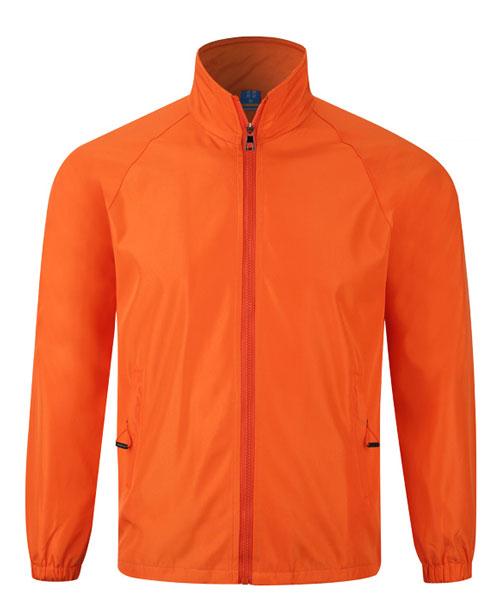 橙色广告风衣定做款式图