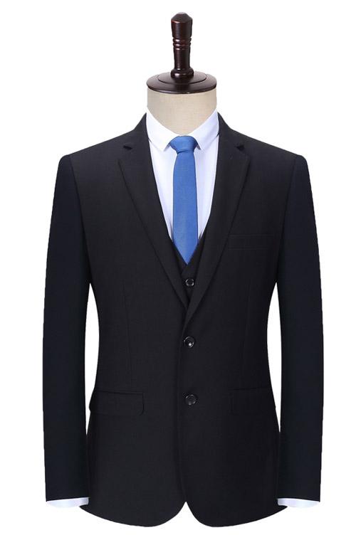 两粒扣修身款定做正装西服套装