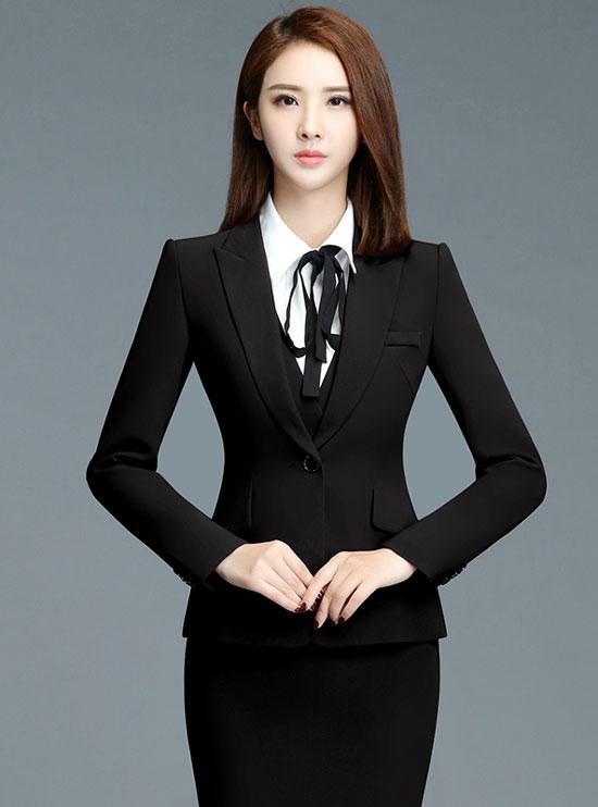 时尚修身女职业套装定做款式图