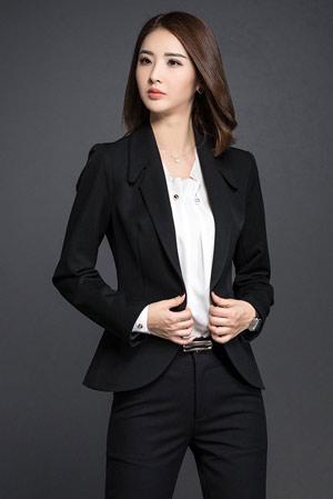 韩版OL商务女职业西装工作服订