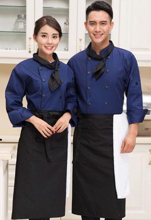 <b>时尚长袖厨师服定做款式图</b>