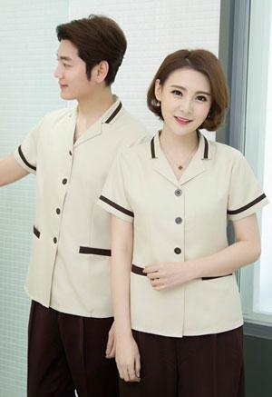 <b>夏装短袖保洁员清洁工服装定制款式图</b>