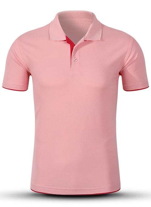 粉色双下摆t恤衫订做_周年